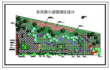 小游园绿化设计平面cad图纸-图二