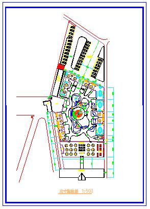 某游园餐厅绿化平面设计cad图纸-图一