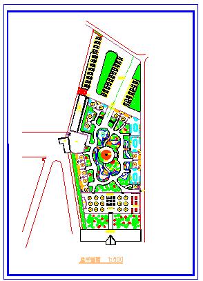 某游园餐厅绿化平面设计cad图纸-图二