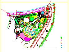某广场景观绿化cad设计施工图-图二