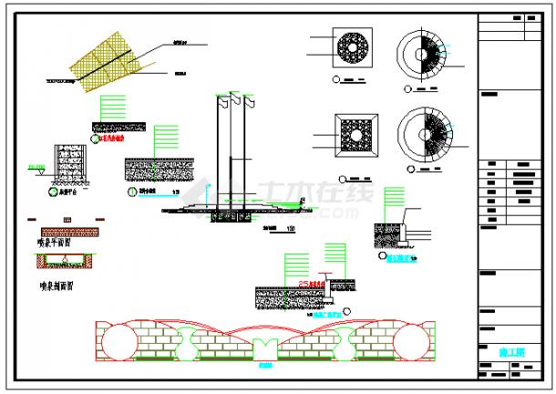 广场景观绿化设计方案cad图纸-图一