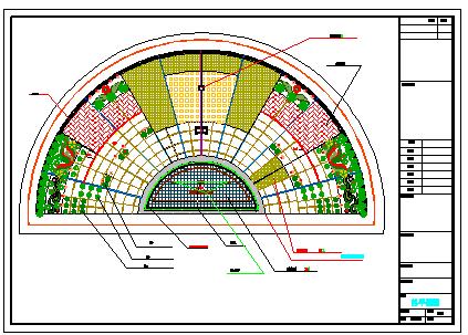 广场景观绿化设计方案cad图纸-图二