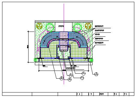 某广场全套景观绿化cad设计施工图-图一