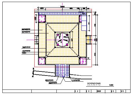 某广场全套景观绿化cad设计施工图-图二