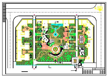 某广场设计景观绿化cad施工图-图一