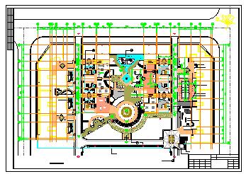 某广场设计景观绿化cad施工图-图二