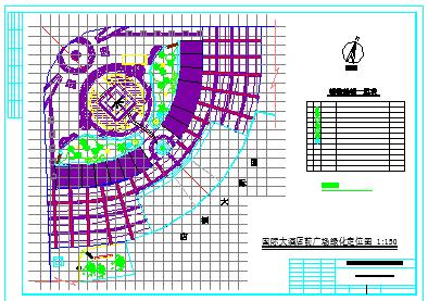 某广场全套设计景观绿化cad施工图-图二