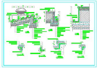 一套旱喷广场景观设计cad施工图-图二