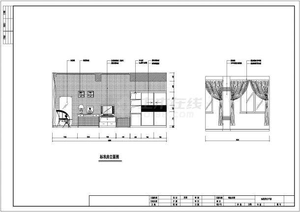 某商务宾馆建筑设计方案图-图二