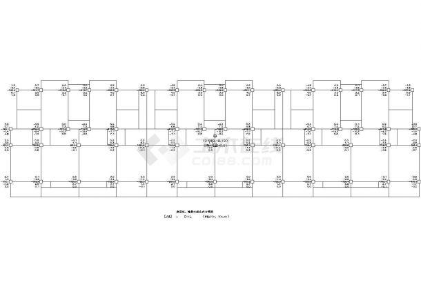 南通市某多层钢筋混凝土框架结构住宅楼工程方案设计cad图(含结构总说明)-图二