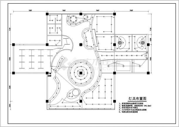 某小型铁板烧店装修设计全套CAD图-图二