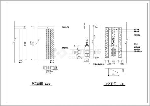 【室内设计装修】三室两厅两卫室内家装设计cad平面图纸-图一