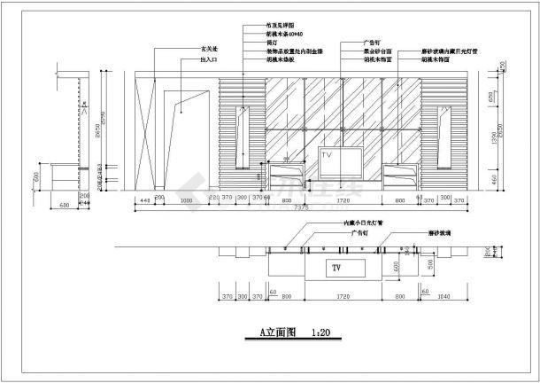 【室内设计装修】三室两厅两卫室内家装设计cad平面图纸-图二