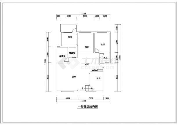 某地精品跃层户型公寓楼全套装修施工设计方案-图一