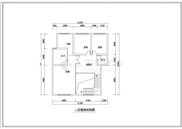 某地精品跃层户型公寓楼全套装修施工设计方案-图二