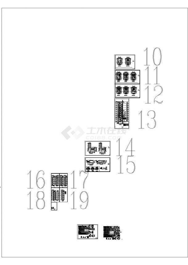 两份8层安置房设计图纸,建筑施工图-图一