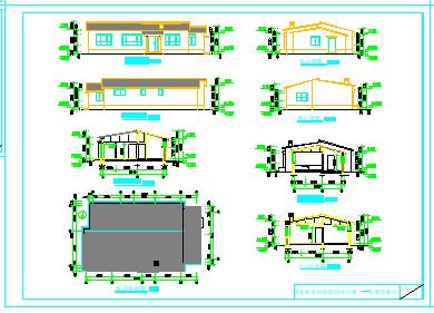 河北新农村民居设计方案cad图纸含效果图-图二