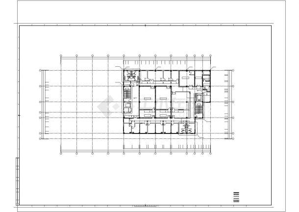 技楼: -1+5层7934平米医院影像公共楼建筑设计平面图-图一
