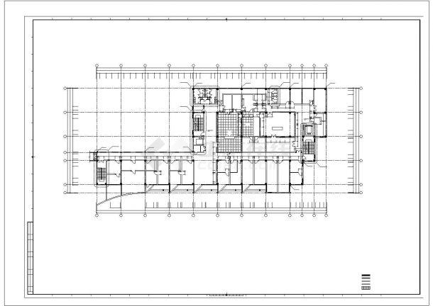 技楼: -1+5层7934平米医院影像公共楼建筑设计平面图-图二