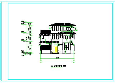 某三层农村自建房设计建筑cad图纸含效果图-图二