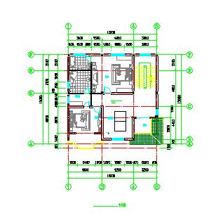 某地三层别墅建筑设计cad施工图带效果图-图一