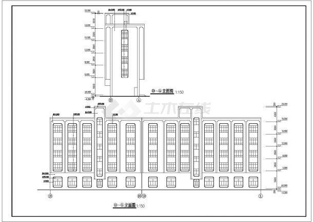 某市中心高层宾馆建筑设计方案施工CAD图纸-图二