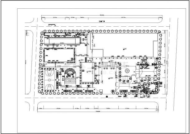 某工厂绿化CAD景观设计完整平面图-图一