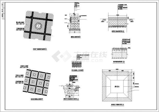 某厂区景观设计CAD竣工图全套铺装竣工-图一