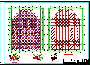 单层正放四角锥与螺栓球节点结构网架结构施工图纸-图二