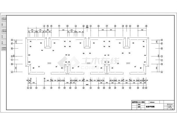 北京昌平区某小区3600平米5层框架结构住宅楼建筑结构设计CAD图纸-图一