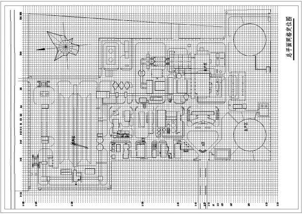 河南某发电厂景观设计CAD完整施工图总平面网格定位-图一