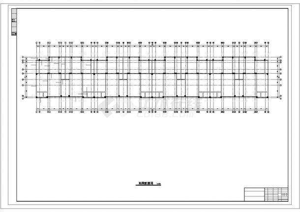 太原市永安花园小区4780平米6层框架结构住宅楼建筑结构设计CAD图纸-图一
