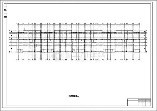 太原市永安花园小区4780平米6层框架结构住宅楼建筑结构设计CAD图纸-图二