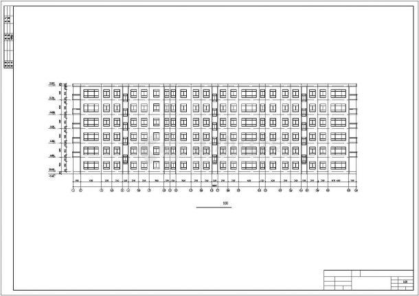镇江市某现代化小区6千平米六层框架结构住宅楼建筑结构设计CAD图纸-图二