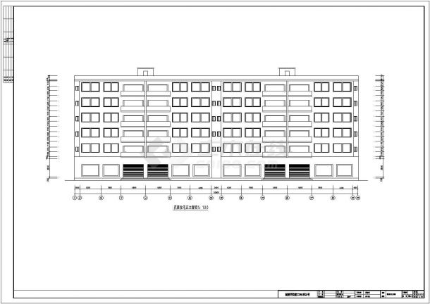 衡阳市广发花园小区4630平米6层框架结构住宅楼 建筑设计CAD图纸-图一