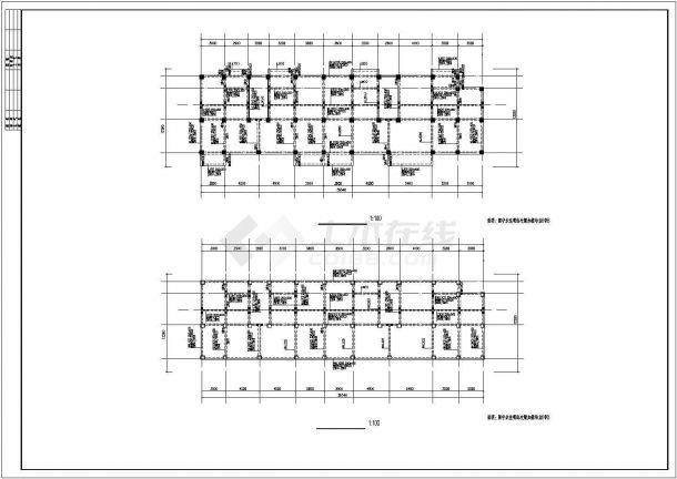 某小区6#单元钢筋混凝土框架结构住宅楼设计施工图(含结构设计施工说明)-图一