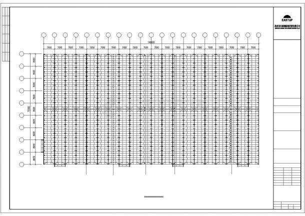 某经济区石业有限公司A栋厂房建筑设计施工CAD图纸-图一