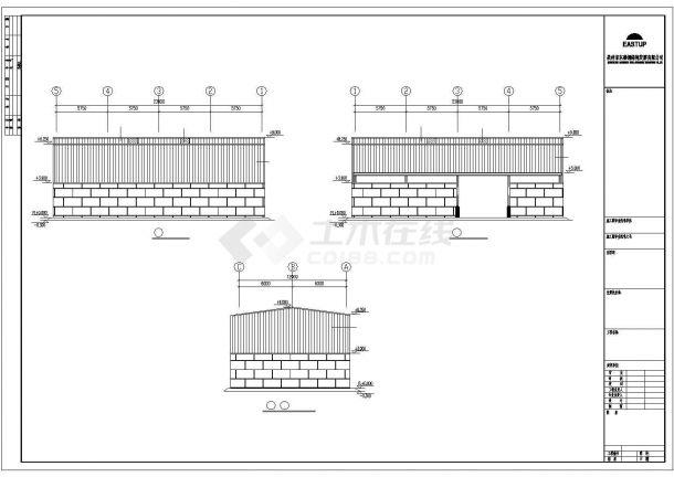 某经济区石业有限公司厂房建筑设计施工CAD图纸-图一