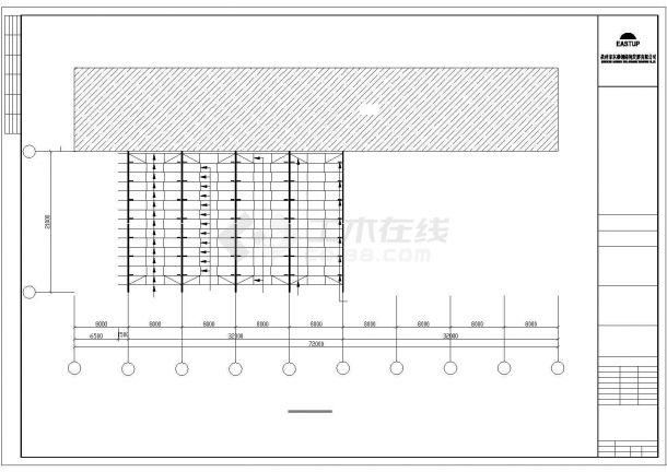 某经济区有限公司钢结构厂房建筑附房设计施工CAD图纸-图一