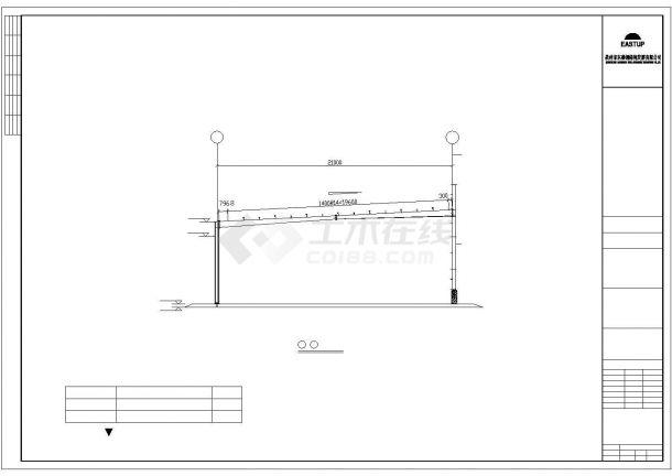 某经济区有限公司钢结构厂房建筑附房设计施工CAD图纸-图二