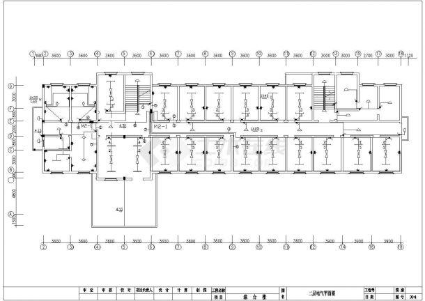 某厂综合楼给排水施工图cad 图纸-图二
