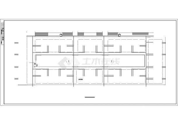 西双版纳市某临街2.4万平米3+1框架结构百货商场建筑设计CAD图纸-图一
