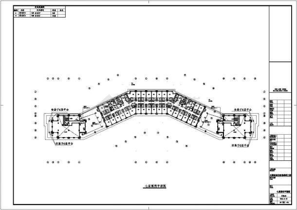 某地多层酒店电气设计方案施工cad图纸,共一份资料-图二