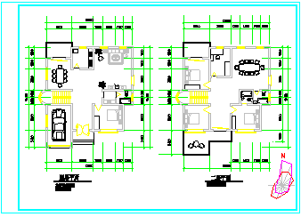 二层别墅建施cad设计图纸-图一