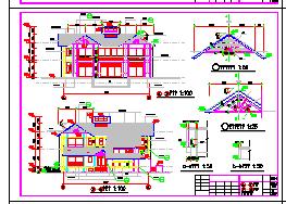 广州二沙岛南堤豪华别墅全套cad设计图-图二