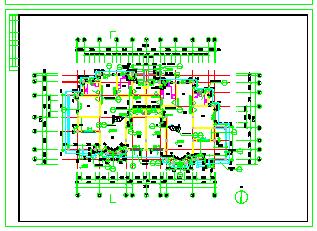 几套联排别墅建筑cad施工设计图纸-图一