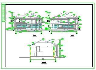 几套联排别墅建筑cad施工设计图纸-图二