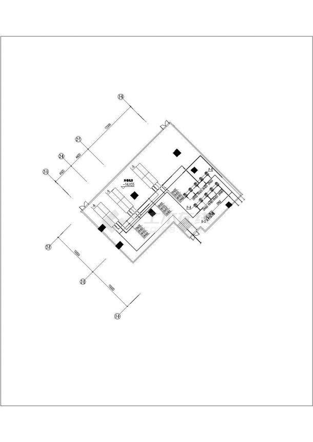 [广州]某多层商业裙楼暖通空调系统设计施工CAD图-图二
