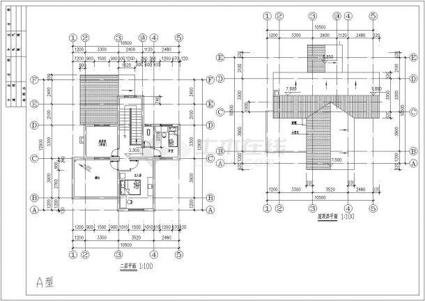 江西省南昌市某地农村别墅施工设计CAD图(含效果图,平面图)-图二