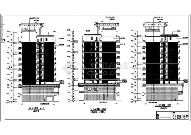20214.36平米商住楼建筑设计施工图-图二